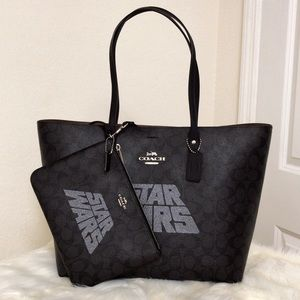 💃Coach X Star Wars Signature Town Tote Pouch Set